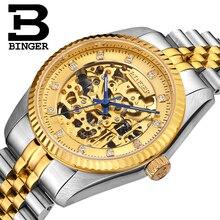 Skeleton Sapphire Switzerland Automatic Mechanical Men's Watch Waterproof Wrist Watches MIYOTA Movement Reloj Hombre B1106-4