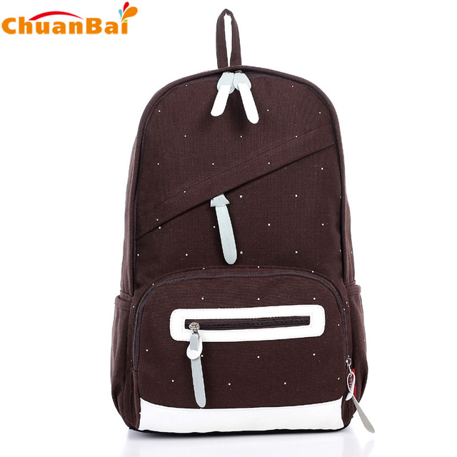 Women Backpack Fashionable Casual Canvas School Backpacks For ...