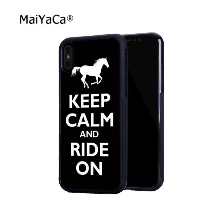 keep calm and ride on horse pony soft phone cases for