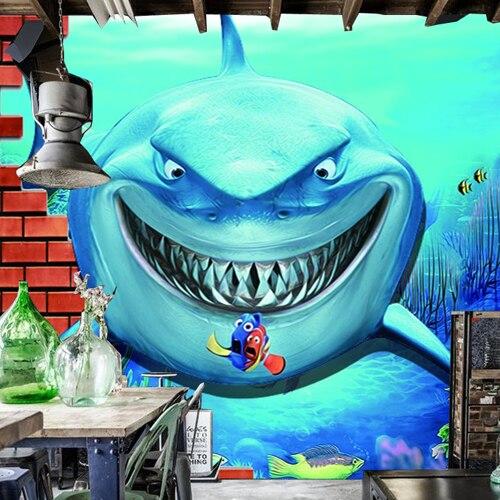 Popular marine room buy cheap marine room lots from china for Aquarium mural wallpaper