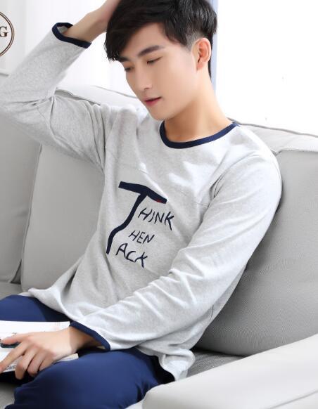 2016 autumn male thickening men flannel pajamas sets long sleeve cartoon coral fleece sleepwear turn down collar nightgown