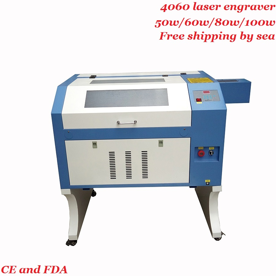 <font><b>4060</b></font> mini laser engraving machine 50w 60w 80w <font><b>100w</b></font> wood acrylic MDF <font><b>co2</b></font> laser engraver cutter M2 controll electrical lift table image