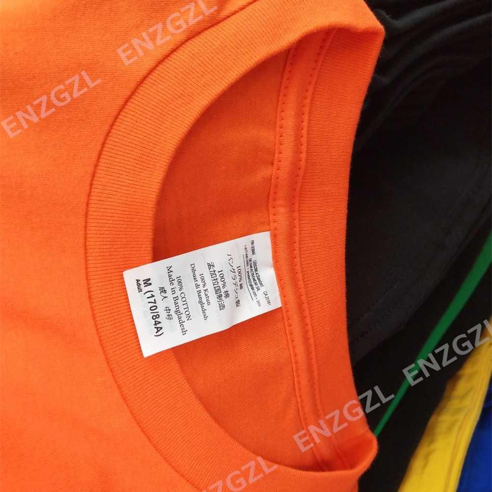 ENZGZL 2019 뉴 여름 티셔츠 망 100% 코튼 티셔츠 남성 PUMBA 프린트 티 반소매 라운드 넥 보이즈 티셔츠 블랙