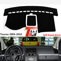 TAIJS Left Hand Drive Car Dashboard Cover For Volkswagen Touran 2004 2016 Lucifuge Mat For Volkswagen