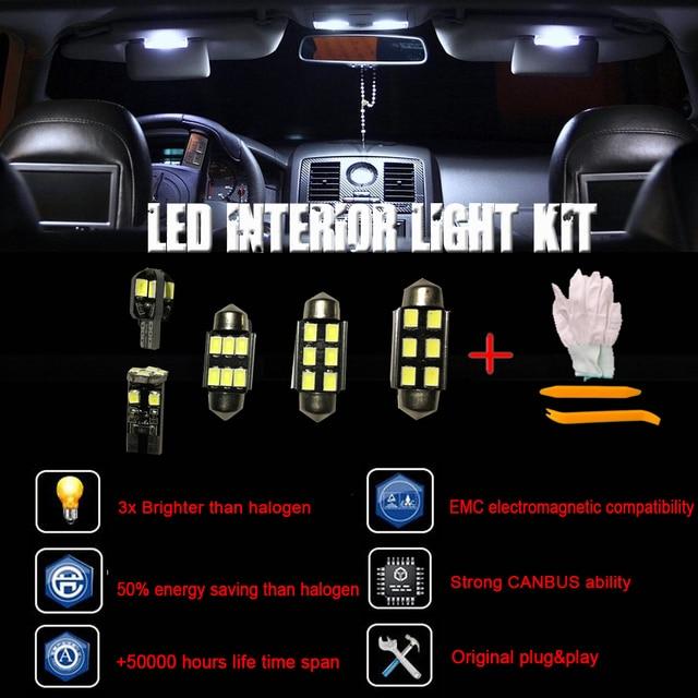 Superb For Mercedes W164 ML + AMG FULL LED Interior Lights KIT Set 21 Pcs Bulbs  White +Installation Tool