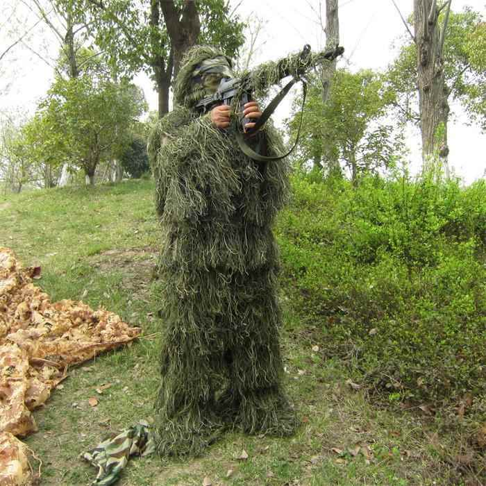 2017 Game Playerunknown's Battlegrounds PUBG Winner Winner Chicken Dinner Long Sleeve Cosplay Costume Ghillie Full Suit Hallowee