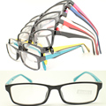 20pcs a lot  wholesale stylish 78187 injection acetate dual colors square ultra lightweight simple optical eyeglass frames