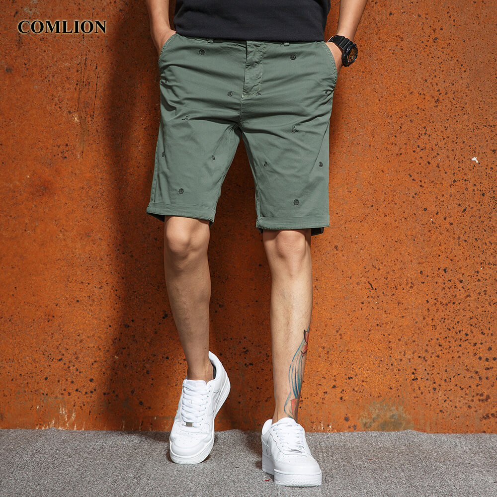 Cargo Shorts Male Hot Sale Summer Cotton Short Pants Cool Color Brand Clothing Knee-Length Casual Shorts Men High Quality F22