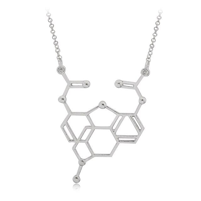 Naszyjnik minimalistyczny Chemical Molecule 3 kolory