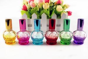 Image 5 - 1PC 12 Ml Vương Miện Nhiều Màu Trống Kính Lọ Nước Hoa Mẫu Nhỏ Di Động Parfume Lọ Mùi Hương Phun Bình