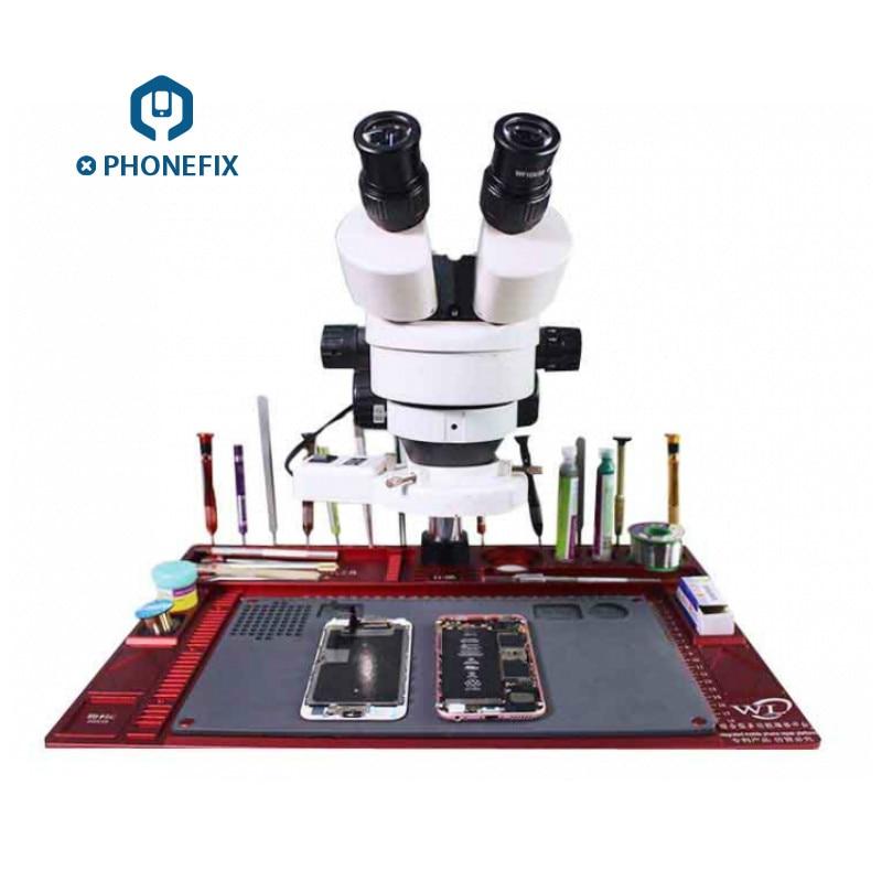 PHONEFIX WL Aluminum Alloy Pad Multi-function Repair Pad Microscope Base Mobile Phone Repair Maintenance Platform + Only Pad curado 200hgk