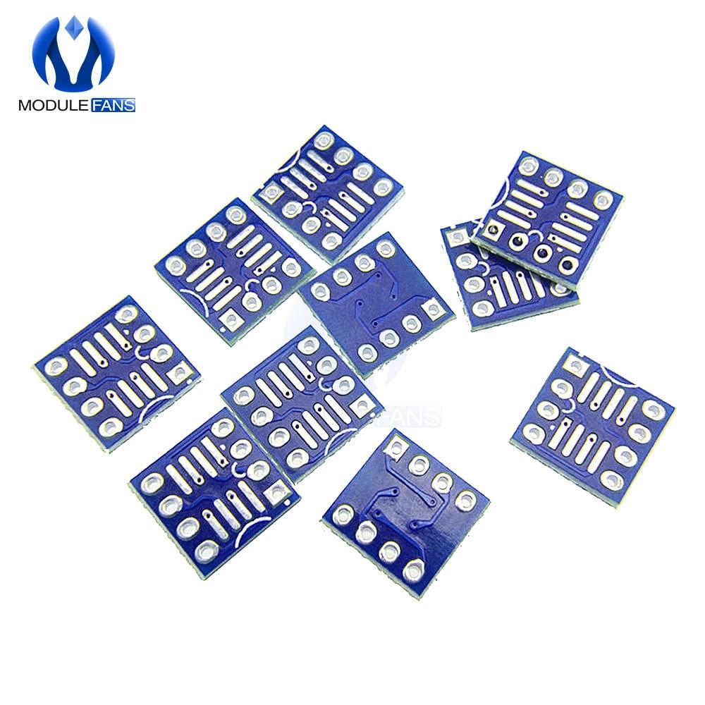 50PCS SOP8 SO8 SOIC8 TO DIP8  Interposer board pcb Board Adapter Plate UK