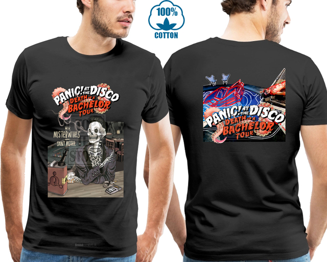 b213313a New Panic! At The Disco Death Of A Bachelor Tour 2018 Gildan T Shirt Black