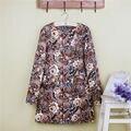 Casaco de primavera para mulheres cotton Long Slim seção em torno do pescoço de mangas compridas do vintage rosas de boa qualidade Ladies Trench