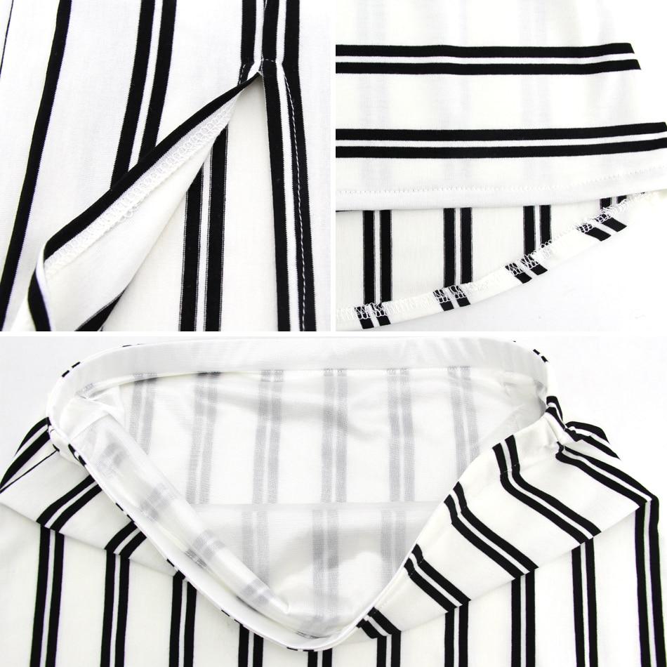 BFDADI 2019 Yaz Kadın Moda Seksi Backless Casual çizgili elbise - Bayan Giyimi - Fotoğraf 6