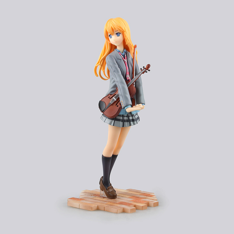 Toys & Hobbies New Comic Amine Gsc Your Lie In April Shigatsu Wa Kimi No Uso Miyazono Kaori Violin Figurine 20cm Figure Toy