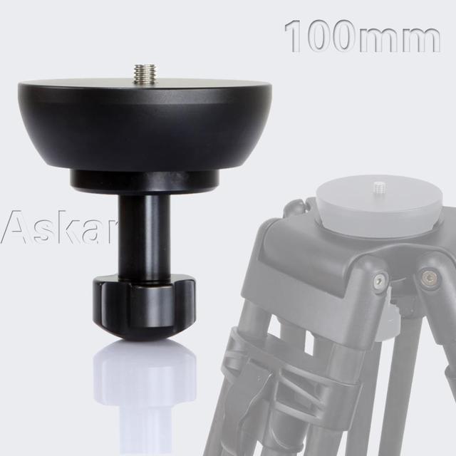 ASKAR 100mm Half Ball Flat to Bowl Adapter for Video Tripod Fluid Head DSLR Rig Camera