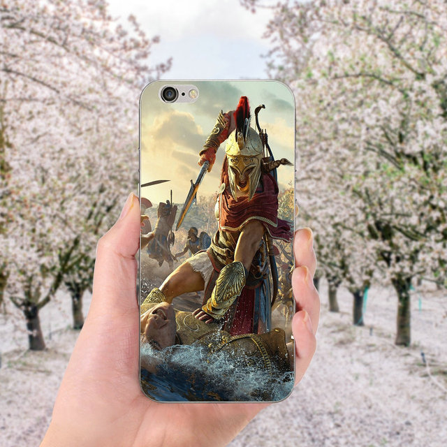 Soft TPU Silicone Cell Phone Cases for iphone X Case Back Cover for iphone 6S 7 8 Plus 4 4S 5 5S SE Bags Assassins Creed Odyssey 5