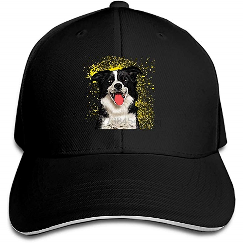 Naughty Dog Mens Structured Twill Cap Adjustable Peaked Sandwich Hat Crease-Resistance Men's Hats