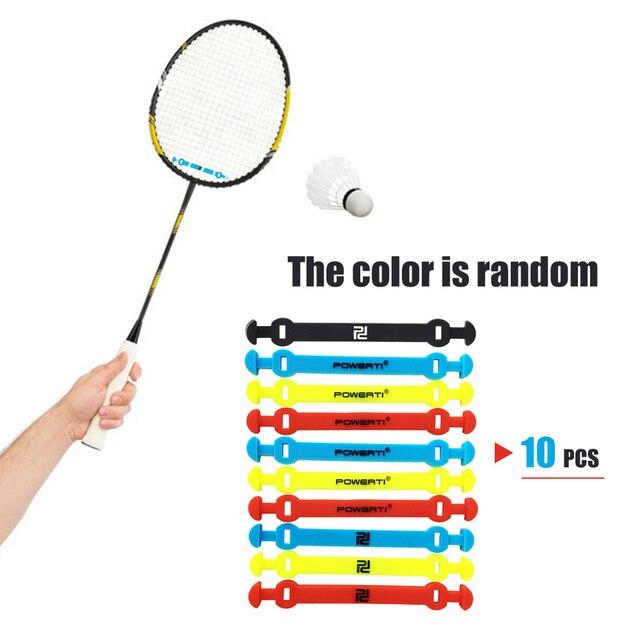 10 pièces amortisseur de Tennis amortisseur élastique raquette de Tennis amortisseur Silicone sangle raquette de Tennis absorbant les vibrations