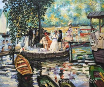 large oil paintings for sale La Grenouillere (The Frog Pond) Pierre Auguste Renoir canvas art Handmade High Quality