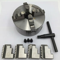80mm 4Jaw Independent Lathe Chuck K12 80(G) 3'' Self centering Chuck for CNC Lathe Drilling Milling Machine