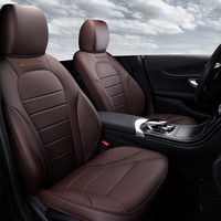 5Seats( Front+Rear) Special customize Genuine leather car seat covers car styling for Mercedes Benz C Class car accessories