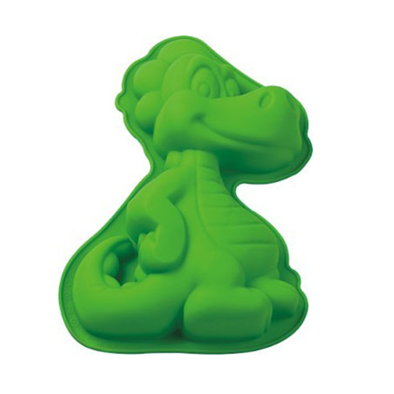 Große Nette <font><b>3D</b></font> Dinosaurier Silikon Backform Pfannen Fach Fondantform Dekoration DIY Kuchen Backen Werkzeuge Backformen Form Maker image