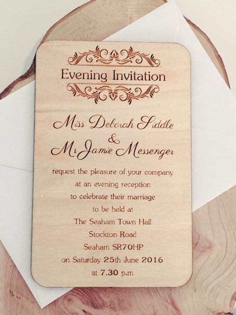 wooden wedding invitations rustic wedding invitations laser