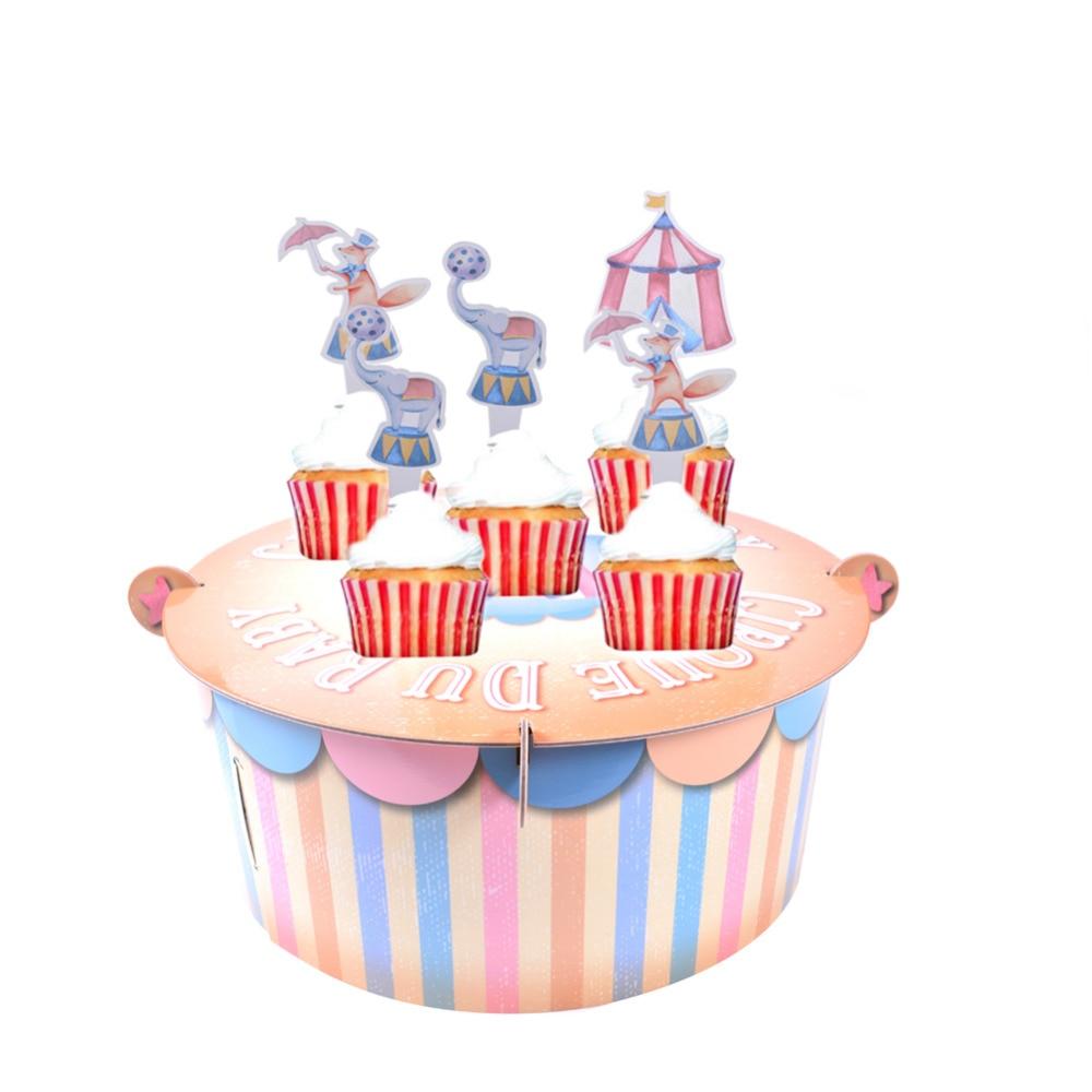 Pastel Vintage Circus Baby Cake Stand Tent Cupcake...