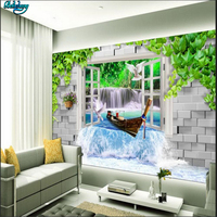 Beibehang Büyük Özel Duvar Kağıtları 3D Stereo Falls Su Sanat TV Arka Plan Oturma Odası Ev Dekorasyon