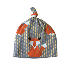Cotton Baby Hat Print Cute Fox Girl Boy Cap Toddler Infant Beanies For Children 0-3 Years