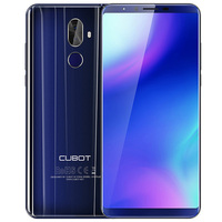 CUBOT X18 Plus 5.99'' 4G Smart Mobile Phone Android 8.0 4GB+64GB 4000mAh 2160*1080 FHD MTK6750T Octa Core Dual Cams Telephone EU