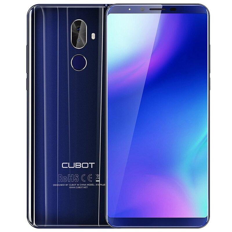 CUBOT X18 Plus 5.99 ''4g Smart Mobile Téléphone Android 8.0 4 gb + 64 gb 4000 mah 2160*1080 FHD MTK6750T Octa Core Double Cames Téléphone UE