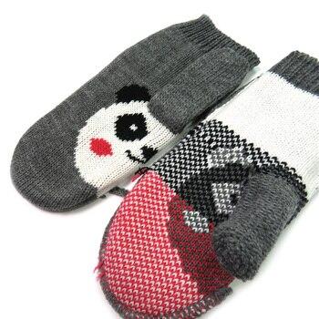 Children Winter Gloves Mittens For Kid Warm Knitted Gloves Creative Animal Panda Hot Gift Fashion Knit Gloves Cute Girl's Mitten