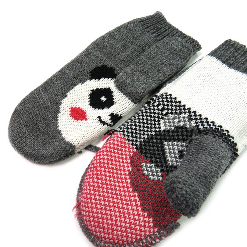 Kinder Winter Handschuhe Fäustlinge Für Kind Warme Strickhandschuhe Kreative Tier Panda Heiße Geschenk Fashion Stricken Handschuhe Netten Mädchens Handschuh Hohe Sicherheit
