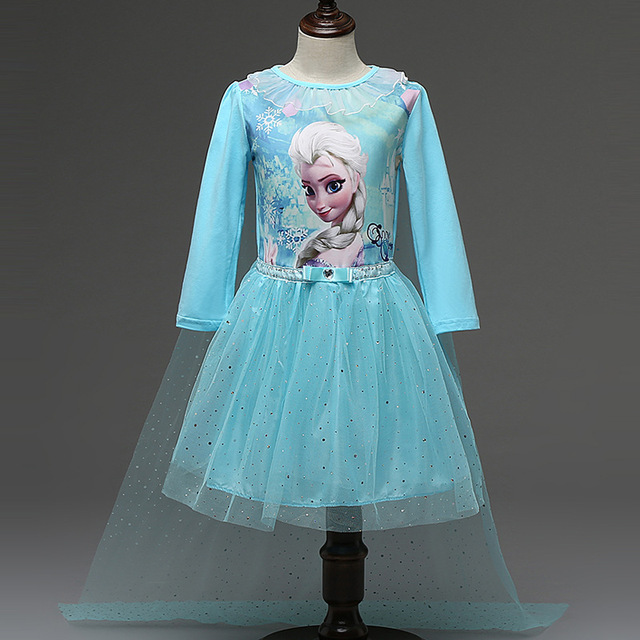 Kids cartoon fashion mermaid princess dress baby sequins long sleeve ball gown children cartoon halloween carnival costume cloth