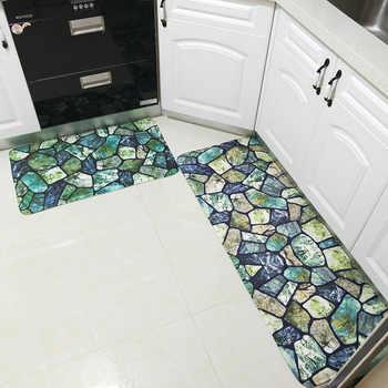 Colorful Stones Bath Mat Set Thicken Flannel Bathroom