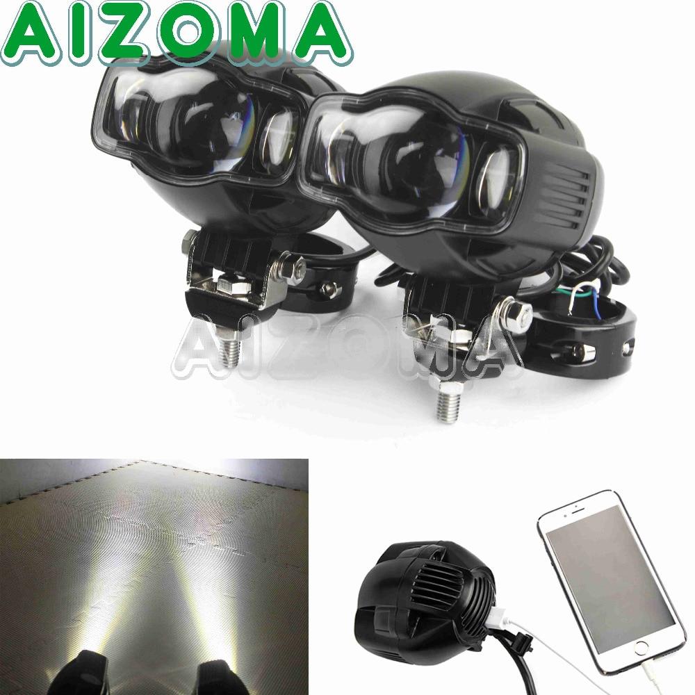 Motorcycle Universal LED Spotlight Auxiliary Lamp 1-1/4