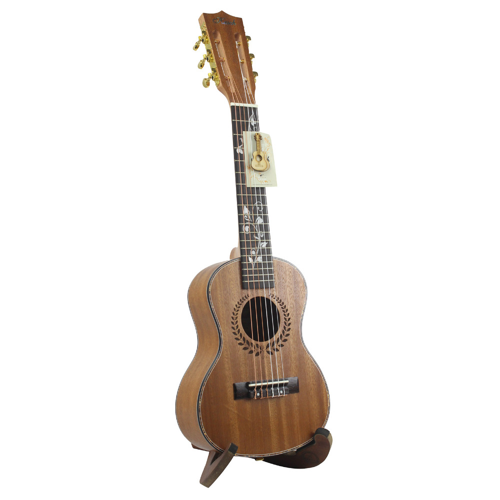28 inch Acoustic Ukulele Sapele 6 Strings Hawaii Guitar Guitarra High Quality String Musical Instrument With Strings + Gig Bag 26 inch mahogany soprano ukulele combo bass guitar guitarra musical instrument set for beginner with kit strap bag picks string
