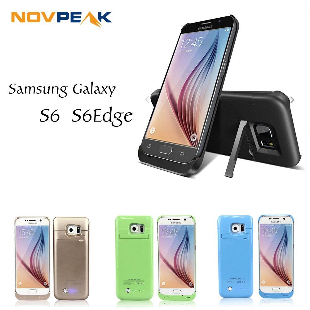 imágenes para Para Samsung Galaxy S6 S6Edge 4200 mah Externa Caja de Batería de Reserva de Carga Cargador Del Banco de la Energía Powerbank con Pata de Cabra