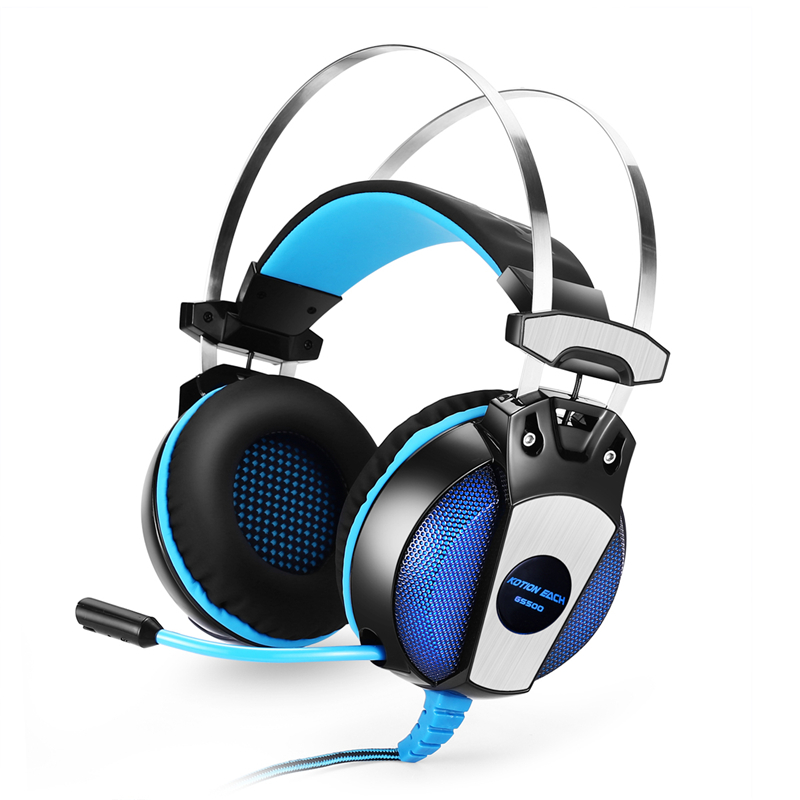 Kotion Each Compute Headset Gaming Headphone With Mic Led Light Game Headset PC Headphone For Computer With Microphone Adapter kotion each g2200 usb 7 1 surround sound headphone vibration computer gaming headset earphone headband with mic for pc lol game