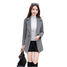 2020 Spring and autumn Single Button Women Wool Blend Coat M
