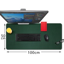 CENNBIE Extended leather Gaming Mouse Pad/Mat Large Office Writing Desk Computer Mat Mousepad,Waterproof - 100*50cm