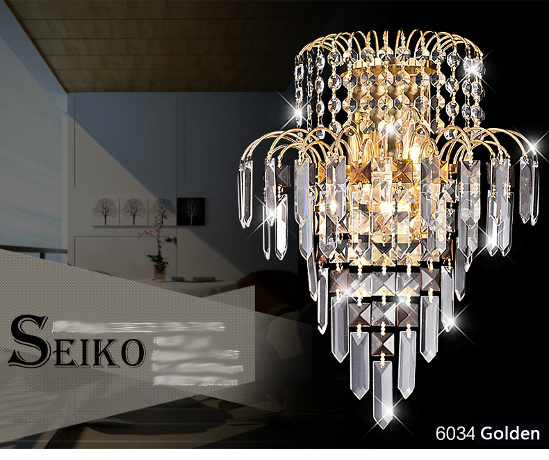 ФОТО Modern Crystal Wall Lamp Bedroom Wall Fixtures Sconces Lighting K9 Crystal Mounted Light For Home Hallway Stairs Decoration
