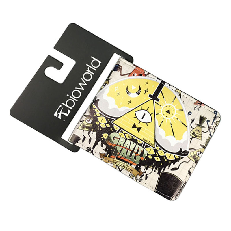 Bioworld Comics Gravity Falls Cartoon Wallets Leather Money Bag carteira Dollar Price Men Women Lovely Short Wallet 11.5*9cm baellerry small mens wallets vintage dull polish short dollar price male cards purse mini leather men wallet carteira masculina