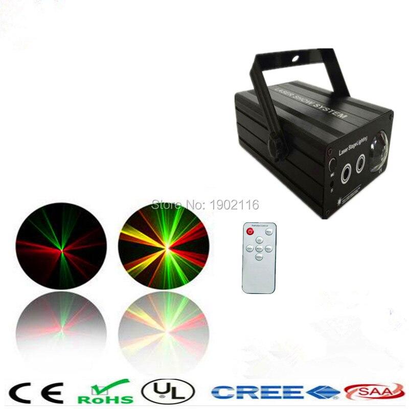 ФОТО IR Remote 48 gobos RG Laser Stage Light Sky Stars Projector Laser lighting For ktv dj disco lights Party Effect Lights