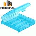 Пластик Жесткий Корпус Держатель для Хранения Box Костюм Для AA AAA Батареи Синий