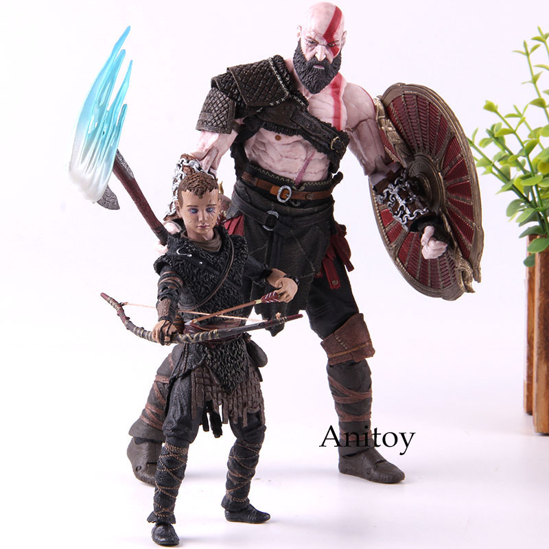 God of War 4 NECA Figure Kratos & Atreus Ultimate PVC God of War Kratos Atreus Action Figure Collectible Model Toy 2-pack