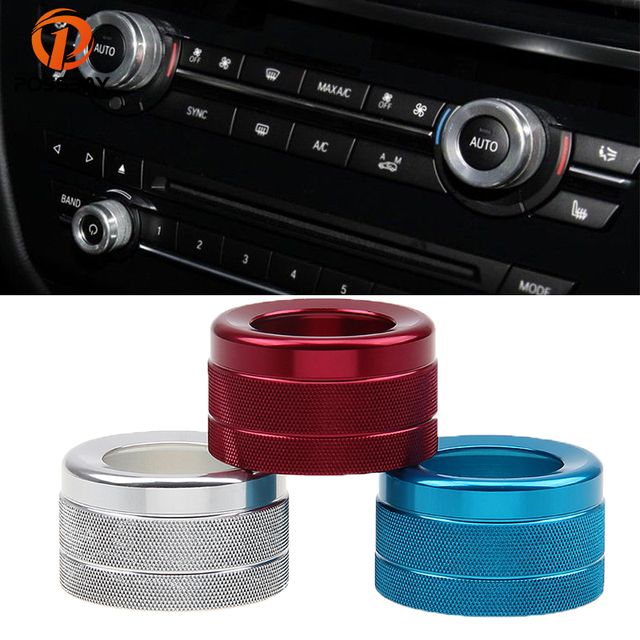 POSSBY Aluminum Car Air Conditioning Knob Installation Heat Control Switch  AC for BMW New X5 X6